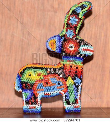 Mexican huichol deer artcraft