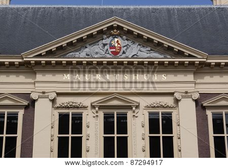 Mauritshuis In The Hague, Museum For Paintings