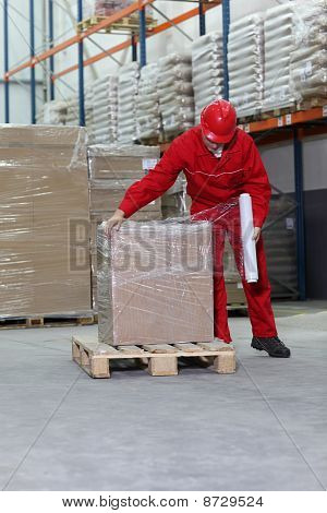 working in warehouse
