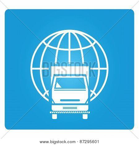truck and globe