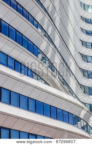 Lines And Curves Of A Contemporary Office Building In Groningen