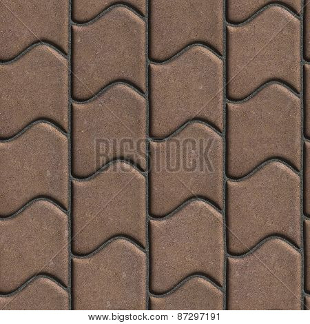 Brown Paving Slabs of the Wavy Form.