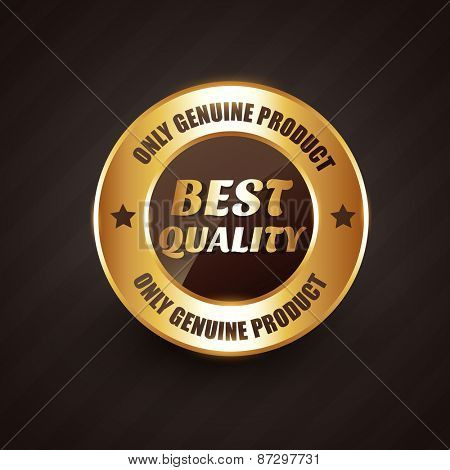 best quality premium label badge with genuine products text