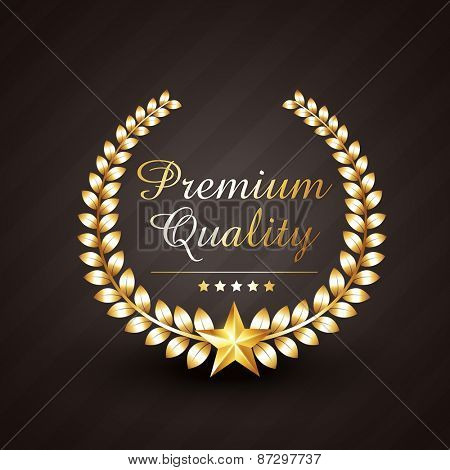premium quality golden award vector design illustration with stars