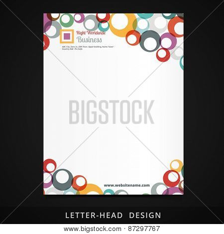 letterhead vector colorful circles design illustration