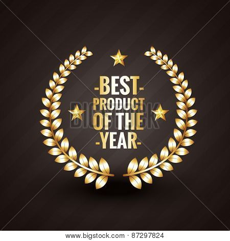 best product of the year 2015 winner badge label design vector illistration