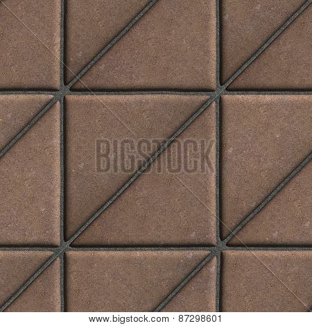 Brown Paving Slabs in the Form Square of a Triangle, Laid Diagonal.