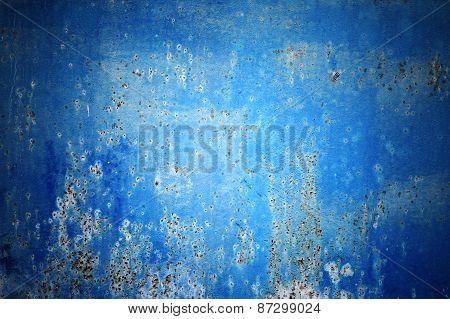 Metal blue texture