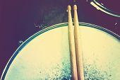 stock photo of instagram  - Drums conceptual image - JPG