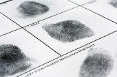 pic of fingerprint  - Real human fingerprint on police fingerprint card - JPG