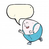 pic of nursery rhyme  - cartoon humpty dumpty egg character with speech bubble - JPG