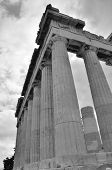 foto of parthenon  - A view of the tall columns forming the Parthenon in Athens - JPG