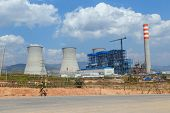 image of reactor  - Lignite power plant under construction in Laos - JPG