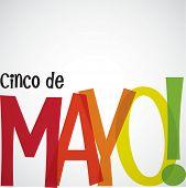 image of mexican fiesta  - Bright typographic Fiesta card in vector format - JPG