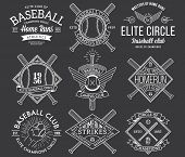 foto of hitter  - Nine black and white Vector sport badges and crests - JPG