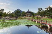 foto of seoul south korea  - Hyangwonjeong Pavilion of Gyeongbokgung Palace - JPG