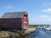 Small Harbor And Wooden Warehouse poster