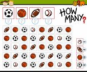 picture of brain teaser  - Cartoon Illustration of Education Counting Game for Preschool Children - JPG
