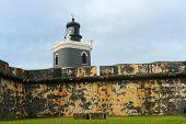 stock photo of el morro castle  - Castillo San Felipe del Morro El Morro Lighthouse - JPG