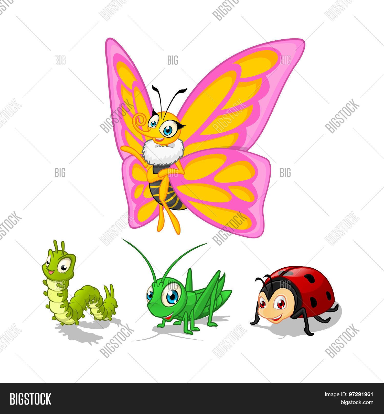 insect cartoon character vector vector u0026 photo bigstock