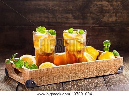 Glasses Of Ice Tea