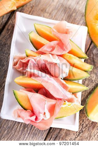 Cantaloupe Melon With Prosciutto