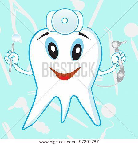 Funny Dantist Tooth