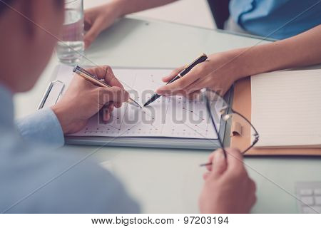 Discussing Annual Report