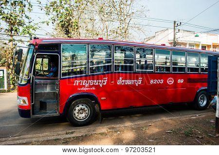 Intercity Bus Kanchanaburi - Sangkhlaburi