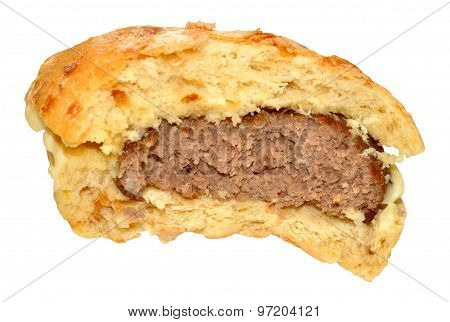 Half Eaten Beef Burger