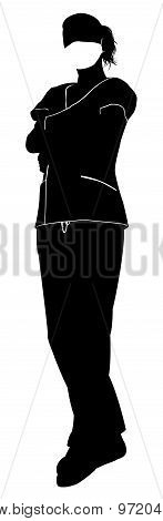 Female Doctor Surgeon Silhouette