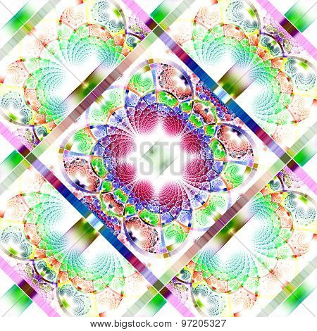 Fabulous Diagonal Fractal Pattern With Shiny Strips. Collection -  Rhinestones.