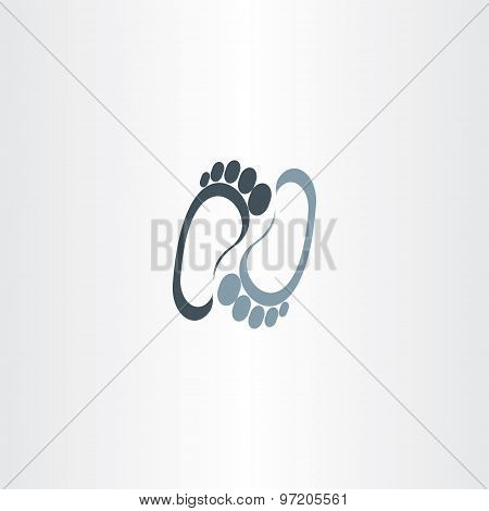 Human Foot Vector Logotype Icon