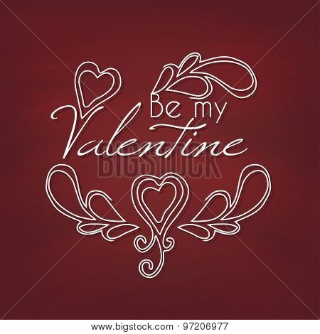 Be my Valentine. Vector illustration