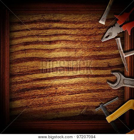 tools for repairs on the grunge background
