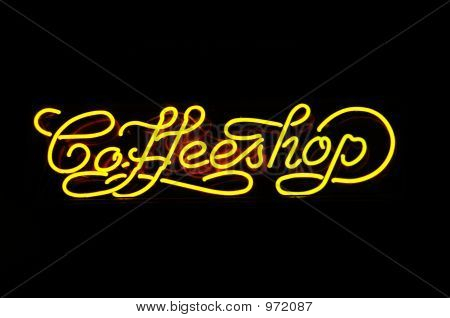 Neon Sign Of A Coffeshop