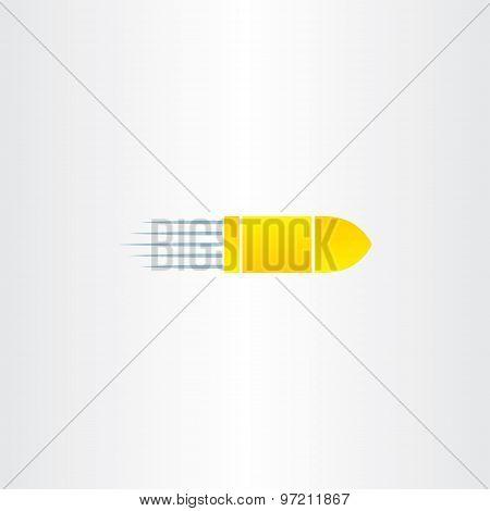 Golden Bullet Vector Icon
