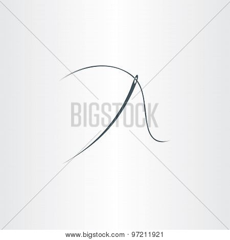 Needle And Thread Symbol Vector Icon