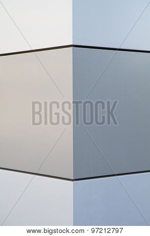 Wall In Metal With Geometric Pattern And Symmetric