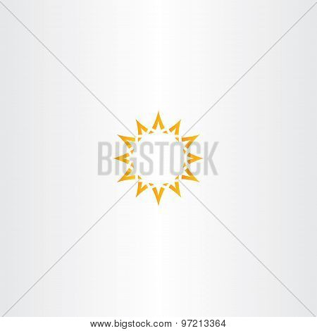 Sun Star Yellow Icon Logo Design