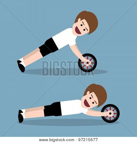 Ab Wheel Training