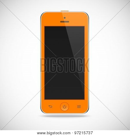 realistic detailed smartphone with touch screen isolated on a gray background