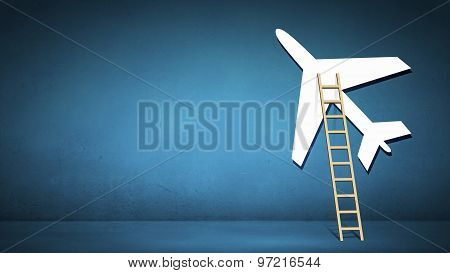 Ladder to airplane