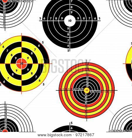 Targets For Practical Pistol Shooting, Seamless Wallpaper