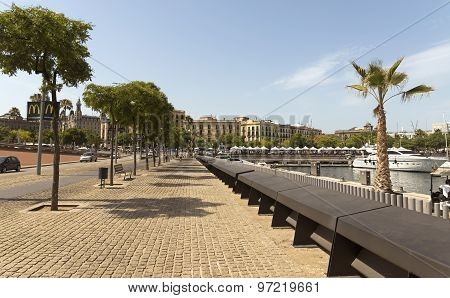 Promenade By Port Vell