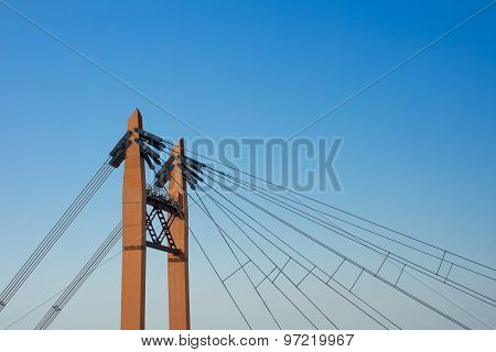 Details Of The Iron Bridge On The Blue Sky Background