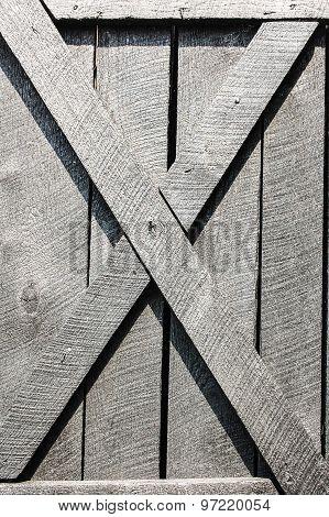 Black Plank Door