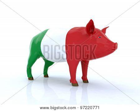 Italian Pork 3D Illustration