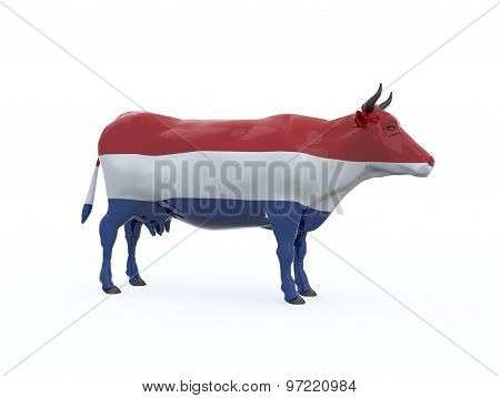 Netherland Flag Cow
