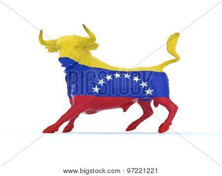 Venezuelan Bull With Flag
